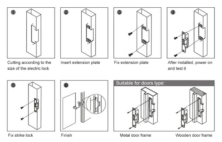 Standard-type Electric Strike lock