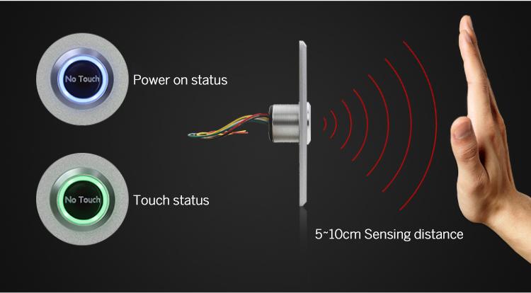 Infrared sensor access control system button-EB-115SS (Outdoor)