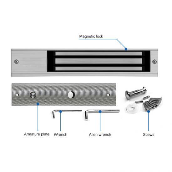 Single Door Electric Magnetic Door Locks With Led Door